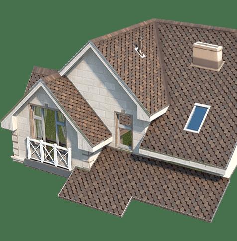 Элемент дизайна - дом - для сайта Баукерамик
