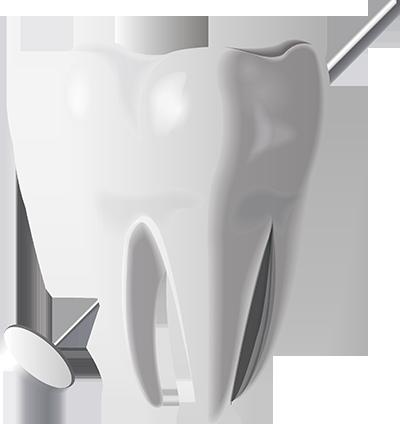 зуб - элемент дизайна для сайта стоматологии